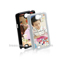Sublimation cell phone cases for Note2 with metal sticker