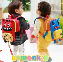 Hot selling anti-lost kids backpack monster shape school bag