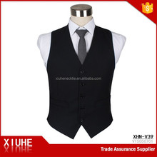 Factory Direct Sale Black formal Cheap vest For Men