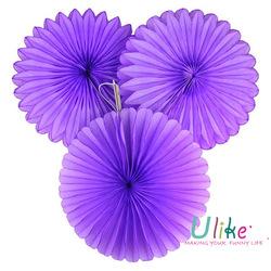 purple Various Fashion Tissue Paper Folding Fan Patterns interior decoration