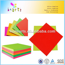 Colored fluorescent paper for party or artificial flowers