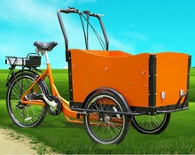 CE best price Holland bakfiets three wheel electric bicycle for sale 2015