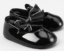 black shiny flat shoes baby
