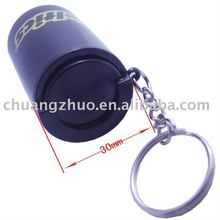 Plastic cheap euro money coin holder with key chain