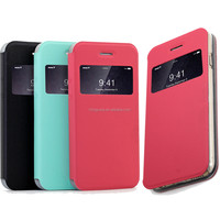 2015 Mobile Phone high raw material pu leather Cell Phone Case for iPhone 6