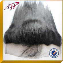 From Qingdao Top Quality Lace Frontal 13*4 With silk top closure Human virgin Hair Yaki Straight