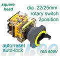 2 posición interruptor selector dia.22/25mm ultra fino cabeza redonda restablecer/on-off interruptor eléctrico 10a 600v