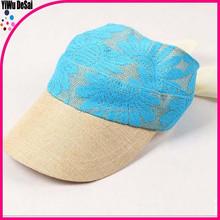 New design sun hats lace decoration leisure girl straw hat