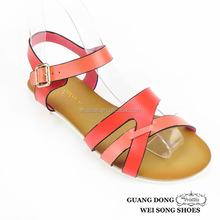 handmade flat ankle strap buckle popular style fashion new model women sandals