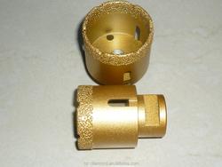 Brazed diamond wet/dry core drill bit, M14 diamond core drill for concrete, stone and glass