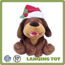 Minion Lifelike Plush Dog With Christmas Hat Toys Stuffer Toys for Sales