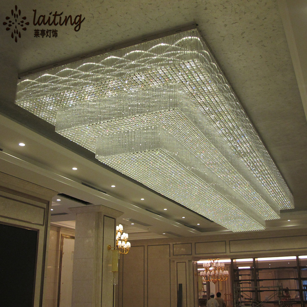 Hotel Big Luxury Banquet Hall Ceiling Chandelier Light