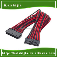Custom Single Sleeved 24 Pin Male to Female 24-Pin Motherboard ATX Cable