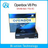 new coming !openbox V8 pro international satellite tv receiver Full HD 1080P ,dvb-s,DVB-T,DVB-C