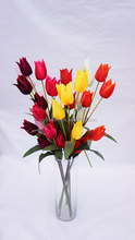 artificial single bunch tulip smiled with 5 heads