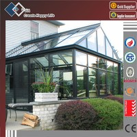Norway favorite thermal break aluminium frame glass sunrooms