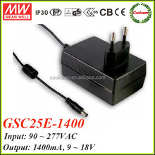 Meanwell GSC25E-1400 1400ma led driver 25w