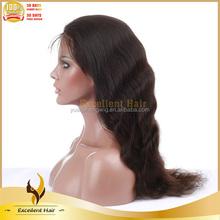 AAAAA 100% Remy Unprocessed Chinese Virgin Light Yaki Full Lace Wig