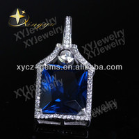 925 sterling silver gemstone pendants for wholesale XYP604130
