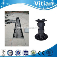 Outdoor marble stone support adjustable plastic pedestals