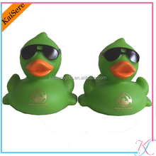 Advertising sunglass floating PVC duck/pvc duck toy