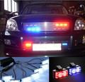 8 x 4 led de la rociada del estroboscópico de luz para coche de la policía - LED448 - rojo / azul / verde
