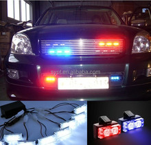 led emergency vehicle lights red blue led police strobe dash lights interior lighting for car. Black Bedroom Furniture Sets. Home Design Ideas