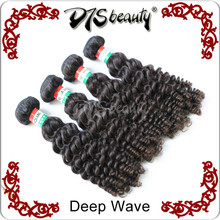 Top sale weft human hair extensions 100% unprocessed virgin human hair remy Indian deep wave hair Indian curly