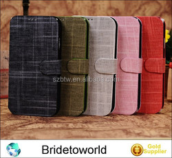 For Samsung i9500 Galaxy S IV S4 Multi Colors Tribal Cloth Style Flip Stand Leather Case