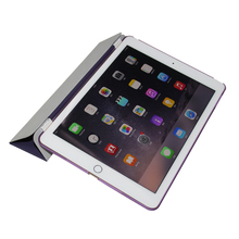 Hot Sales fashion PU smart case for iPad air1/air2 folded 3 styles for ipad cooling case