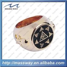 custom fashion latest 3D engraved golden masonic ring