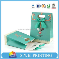 2015 Wholesale customized shopping craft paper wine bag seller
