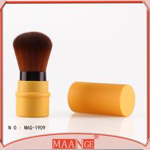 New professional crystal nylon hair retractable Kabuki lip Brushes Kit Retractable Make Up Powder Brush