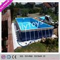 Ao ar livre frame de aço piscina, gigante piscina quadro