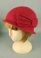 Fashion Warmer Wool Knitted Cloche Hat With Bow