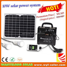 High quality Simple Operation 10W Solar Power Kit / Solar PV System .