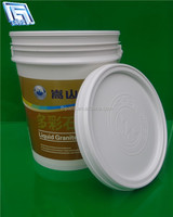 20L plastic barrel for water storage with lid and handle