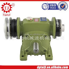 for marine engineering big ratio and high power worm reducer assembly with clutch and brake