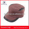 Flat Top Hat With Black Trips Fashion Style Women Flat Hats