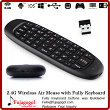 Handheld 6-Axis mini wireless 2.4G Air Mouse keyboard For PC Android TV Box