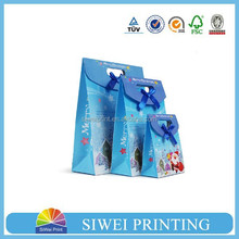 paper packaging birthday gift bag for candy with ribbon
