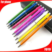 factory supply touch screen ball pen with customized logo printing crystal touch pen