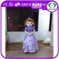 2015 HI CE adult sofia the first mascot costume for sale