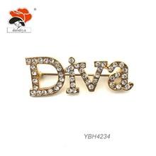 diva letters brooch on sale