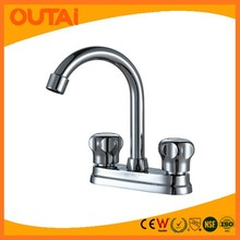 Household Fitting Brass Kitchen Water Tap Dual Handle
