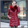 XBF003 Best-Seller Silver Fox Fur Coat with Rabbit Skin Leather with Cheap Price