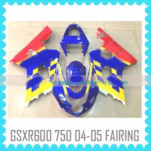 Factory custom Fairing work Body Kit for SUZUKI GSXR600 GSXR750 2004 2005 K4 movistar