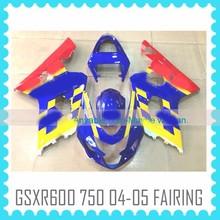 Factory custom Fairing work Body Kit for SUZUKI GSXR600 GSXR750 2004 2005 K4 movistar