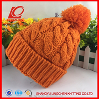 knitted own beanie hat with tassel