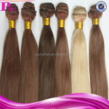 wholesale AAAA grade top quality silky straight 8''-32'' brazilian hair weave blonde and brown